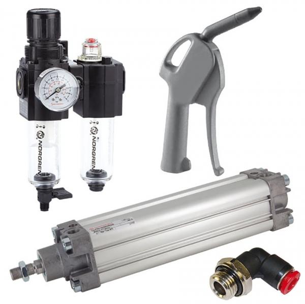 Pneumatik - Normzylinder, Kompaktzylinder und Rundzylinder sowie Ventile, Wartungseinheiten, Schläuche, Push-In Einsteckverbindungen, Verschraubungen und Blaspistolen sind aus Vorrat lieferbar.