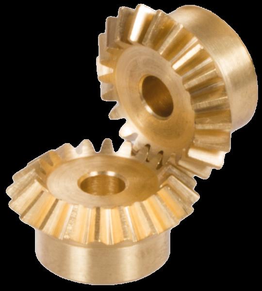 Kegelrad - Kegelräder sind spiralverzahnt oder gerade verzahnt in verschiedenen Modulen und Übersetzungsverhältnissen aus Vorrat lieferbar. Erhältlich in Azetalharz, Zinkdruckguss, Messing, Stahl und Edelstahl.