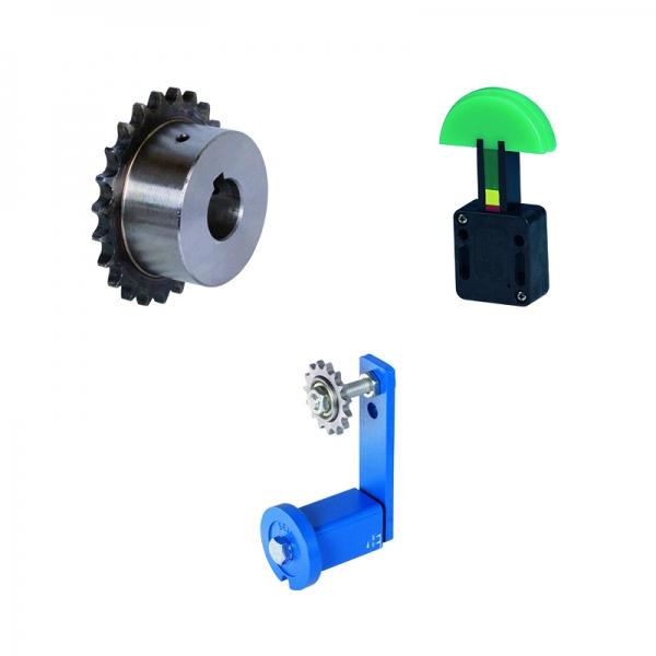 Kettenspanner - Kettenspannräder und Kettenspannradsätze sind für Einfach-Rollenketten, Zweifach-Rollenketten und Dreifach-Rollenketten DIN ISO 606 (DIN 8187) aus Vorrat lieferbar, auch in Edelstahl.