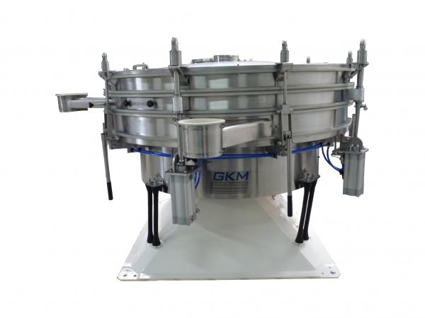 Taumelsiebmaschine KTS - Die Taumesiebmaschine ist die perfekte Lösung für die exakte Trennung von trockenen, staubförmigen oder körnigen Produkten. Sie ist besonders für hohe Leistungen bei Siebungen von leichten, feinen und siebschwierigen Produkten geeignet.<br /><br />Die Taumelsiebmaschine Typ KTS ist in den Baugrößen Ø 600 bis 2600 mm, mit 1 bis zu 6 Siebdecks, verfügbar.