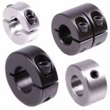 Klemmringe und Stellringe - Stellringe DIN 703 und DIN 705 sowie geschlitzte und geteilte Klemmringe, schmal und breit sind in Aluminium, Stahl und Edelstahl in vielen Größen direkt aus Vorrat erhältlich.
