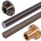 Keilwellen und Gewindespindeln - Keilwellen ähnlich DIN ISO 14 sind aus Stahl C45 und Edelstahl 1.4301 bis Länge 6 Meter aus Vorrat lieferbar.