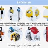 HEBEZEUGE - Elektro- und handbetriebene Hebegeräte und Zuggeräte.