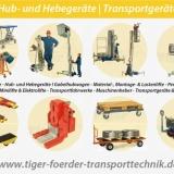 Mobile Transport-, Hub- und Hubgeräte - Hebegeräte zum Heben, Verfahren, Montieren.